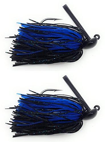 Reacción Tackle tungsteno Voltear Jigs (2-Pack), Negro/Azul