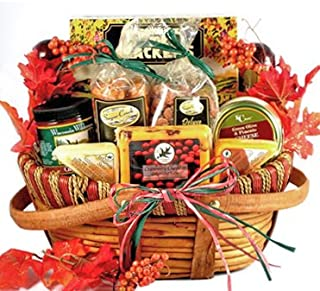 Meat and Cheese Thanksgiving Gourmet Gift Basket | Size Medium