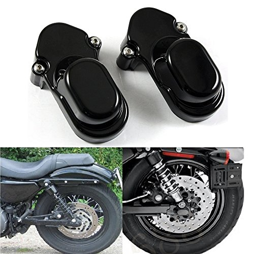 Black Rear Axle Nut Cover Bolt Cap Kit Fork Tube Cap For Harley Sportster XL 883 1200 48 2005-2015(Pack 2)
