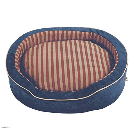 QWERTY Donut hundebett Höhlenbett ,Baumwoll-Bett Für Hunde, Katzen Und Kleintiere,Waschbar Hundematte Kissen rutschfest, Für Kleine Und Mittlere Haustiere (Size : M)
