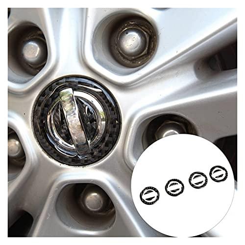 Iinger 4pcs de Fibra de Carbono del Coche Abdominales Rueda Centro Hub Cap Tapa Protección Rim Cap Fit para Nissan X-Trail 2014-2018 Pegatinas de decoración