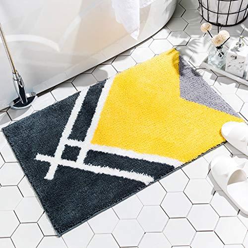 Qingday Nordic Moderne badmat, antislip, hoogpolige en zachte absorberende vloerbedekking, wasbaar, knuffelig tapijt, perfect voor de badkamer