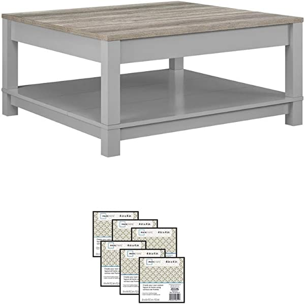 Langley Bay Chic Style Coffee Table Gray
