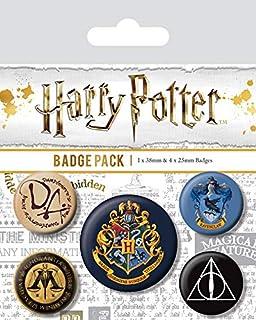 Pyramid International Chapa de Harry Potter Hogwarts, Multicolor, 10 x 12.5 x 1.3 cm