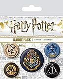AMBROSIANA Spilla di Harry Potter Hogwarts, Multicolore, 10 x 12.5 x 1.3 cm...