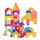 CUTICATE 50pcs Bloque de Construcción EVA Espuma Multicolor Juguete de Aprendizaje Temprano para Niños Niñas 5cm