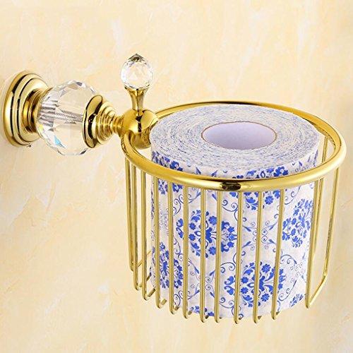 Tout le support de papier de toilette imperméable de papier de bronze de support de papier d'or de cristal Rollsnownow