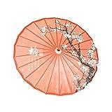 ASIAN HOME Rainproof Handmade Chinese Oiled Paper Umbrella Parasol 33' Plum Blossom
