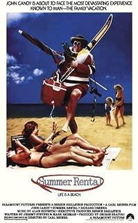 ArtFuzz Summer Rental Movie Poster Print