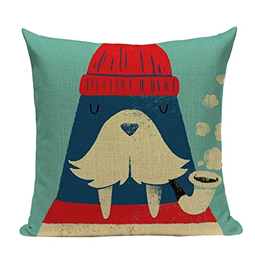 WMYDYBD 2-Pack Ocean Scenery Linen Decoration Square Throw Pillow Pillowcase Pillowcase Pillowcase, Sofa Sofa Bed Chair Home Decoration Decoration 18X18 Inch / 45X45 cm,f