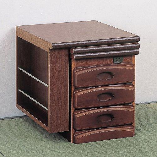 クロシオデスクブラウン幅96cm奥行45cmNEW天然木ワンタッチ文机ローデスク木製引き出し付き062245