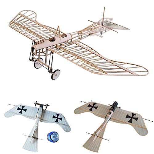 Etrich Taube Slow Flyer KIT, 456 mm Spannweite, Maßstab 1/30, Modellflugzeug zum selber Bauen, Balsa Holz Bausatz, RC Flugzeugmodell Baukasten, 330 x 456 x 125 mm groß, Lasercut, 41 g Fluggewicht
