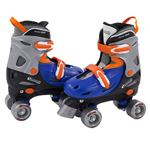 Chicago Boy's Adjustable Quad Roller Skate, Blue/Silver, Small