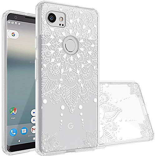 Google Pixel 2 XL Case,Topnow [Anti-Scratch PC + Shockproof Anti-Drop Soft TPU] Advanced Printing Pattern Phone Cases Glossy Drawing Design Cover for Google Pixel 2 XL(White Flower)