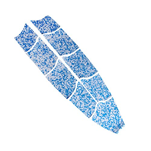 menolana 9 Pieces Surf SUP Deck Traction Pad 72.8 x 23.23 inch Customizable Deck Grip for Any Size Paddleboard - Easy to Apply - Choose Colors - Blue White Camo