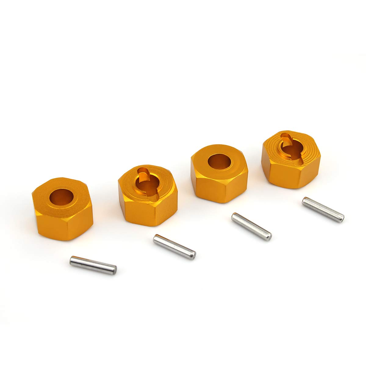 Metal Wheel Hex Nuts 12mm Drive Hubs with Pins suitable for 1//10 RC car