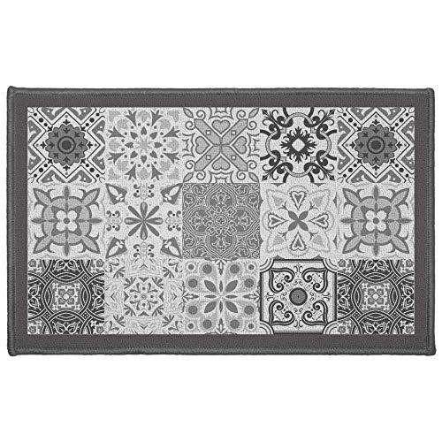 douceur d'intérieur tapis rectangle 50x80 cm persane gris