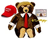 Trumpy Bear Official As Seen On TV with Certificate of Authenticity and 2020 Trumpy Hat 22' Bear with an Attached 28' by 30' Flag Themed Blanket