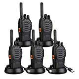 Retevis H777 Walkie Talkie Long Range Rechargeable Two Way Radios USB Charging Built-in Flashlight FRS 2 Way Radios (5 Pack)