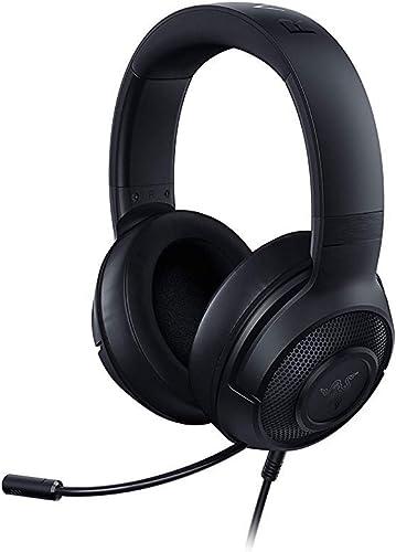 Razer Kraken X - Casque de jeu (casque de jeu ultra-léger pour PC, Mac, Xbox One, PS4 et Switch, rembourrage du bande...