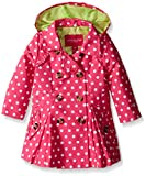 London Fog Baby Girls' Lightweight Polka Dot Trench Coat, Pink, 12 Months