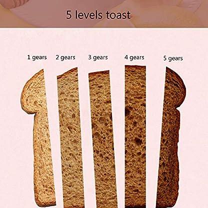Kitchen-supplies-4-Scheiben-Toaster-mit-Zwei-Bedienfeldern-Edelstahl-Toaster-mit-extra-breitem-Schlitz–Aufwaermen-der-Abtauungsfunktion-und-Abnehmbarer-Kruemelschalen-Toaster-rot
