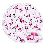 Feelingjoy Round Beach Towel Blanket for Women Girls Pink...