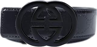 Men's fashion casual black belt - removable buckle