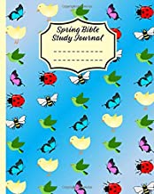 Spring Bible Study Journal: 3 Month Daily Devotions Blue Workbook (8