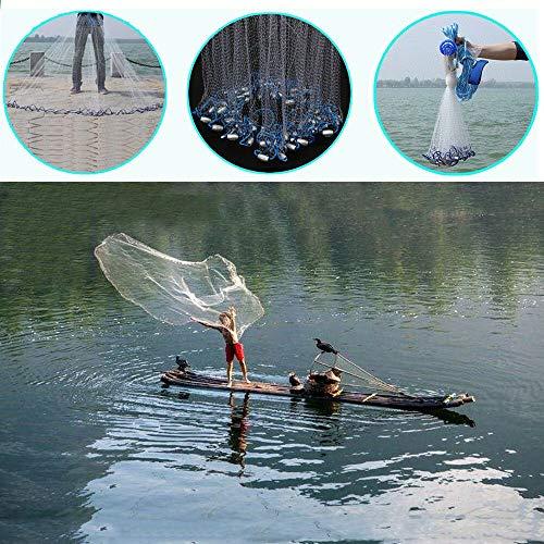 MOMOJA Wurfnetz Fischernetz Fisch Netz abfischen Forelle Zander Karpfen (22ft)