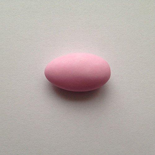 Taufmandeln 500 g hellblau, rosa od weiß (für mind 32 Gäste) - Gastgeschenke Taufe Bonboniere Kommunion Mitgebsel Konfirmation - Mandeln Taufe Taufbonbons Zuckermandeln, Farbe:rosa matt