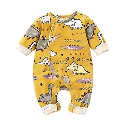 HaiQianXin Costume De Dinosaure Mignon bébé Bot Fille Animal Imprimé Barboteuse Combinaison Bodtsuit Platsuit Nouveau-Né Vêtements (Color : 6M-12M)