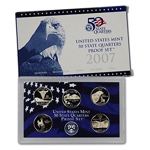 2007-S US Mint Proof State Quarter 5pc. Set With Box/COA