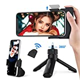 Yoozon Bluetooth Phone Tripod,Mini SelfieStick Tripod Stand Holder Head Standard Screw Adapter with Wireless Remote Shutter Support SLR Function,Compatible with iPhone,Android Phone,Digital Camera