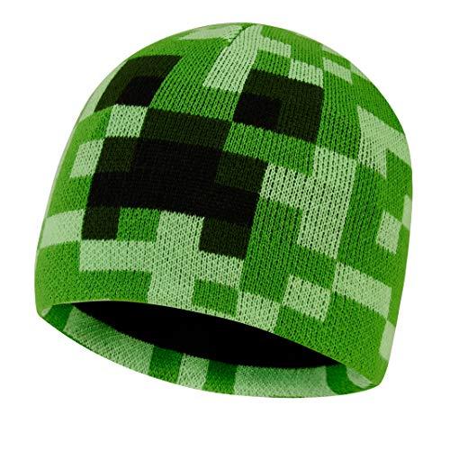 Minecraft Mütze für Junge Kinder Mädchen Frau Hüte Winter (S/M)