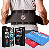 Old Bones Therapy Lower Back Brace with Adjustable Straps and Heat Ice Gel...