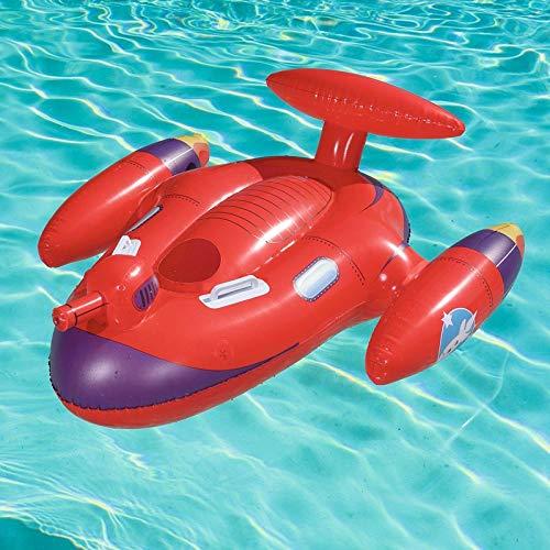 WZXHN Aufblasbarer Space Splasher Rider für Kinder Pool Float Wasserspielzeug Schwimm-Aufsitzmatratze Fun Beach Boys Game Buoy 109 * 89cm
