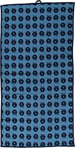 Smafolk Badetuch 70x140cm blau mit Äpfeln