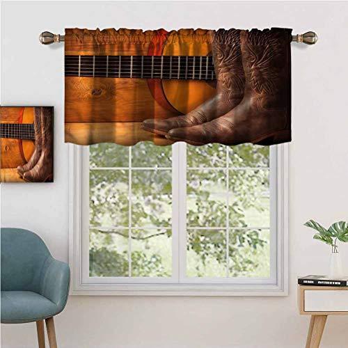 Hiiiman - Cortina de cortina de bolsillo para barra (2 unidades, 106,7 x 61 cm), diseño de país americano