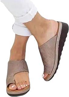 ludonie Non-Slip Platform Slipper Wedge Sandals Flip Flops Shoes Women's Toe Sandals