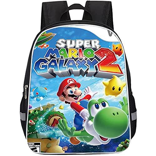 Wopin Mochilas Super Mario escolar para niños de dibujos
