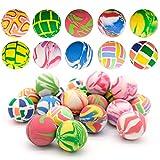 20 Piezas Bolas Rebotadoras Mini Goma, 32mm Pelotas Saltarinas Coloridas Bouncy Ball para Fiesta Rellenos, Premios Cumpleaños Regalos de Fiesta