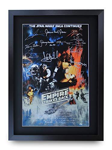 HWC Trading Star Wars The Empire Strikes Back A3 Gerahmte Signiert Gedruckt Autogramme Bild Druck-Fotoanzeige Geschenk Für Filmfans