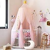 Nibesser Baldachin für Kinder/Babys 100% Polyester Gewebe Romantischer Betthimmel Moskitonetz Kinderbett für Kinderzimmer Hohe 240cm (Rosa) - 2