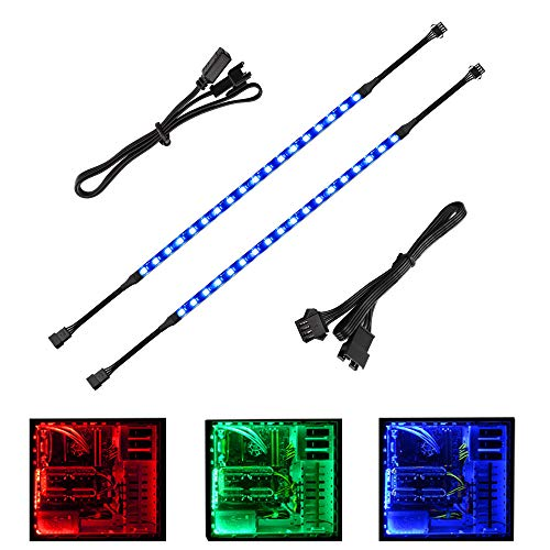 Speclux Bande LED RGB pour modélisation de boîtier PC, contrôle carte mère, 12 V 4 broches RVB, compatible avec Asus Aura, Asrock RGB Led, Gigabyte RGB Fusion, MSI Mystic Light