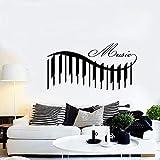 Vinilo de pared con diseño de piano de música y canciones de calidad garantizada para decorar las paredes, 80 x 42 cm