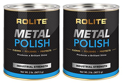 Rolite - RMP2#2PKMetal Polish Paste - Industrial Strength Scratch Remover and Cleaner, Polishing Cream for Aluminum, Chrome, Stainless Steel and Other Metals, Non-Toxic Formula, 2 Pounds, 2 Pack