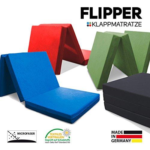 myBubo Klappmatratze Faltmatratze Klappbett Flipper Blau - Made IN Germany - als Matratze/Gästebett/Gästematratze einsetzbar