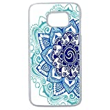 LAPINETTE COQUE-S7-EDGE-MANDALA-BLEU - Funda Carcasa para Samsung Galaxy S7 Edge diseño Mandala Azul