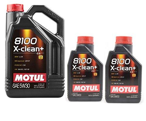 motorenöle MOTUL 8100 X-clean+ 5W30 7 liter (1x5 lt + 2x1 lt)